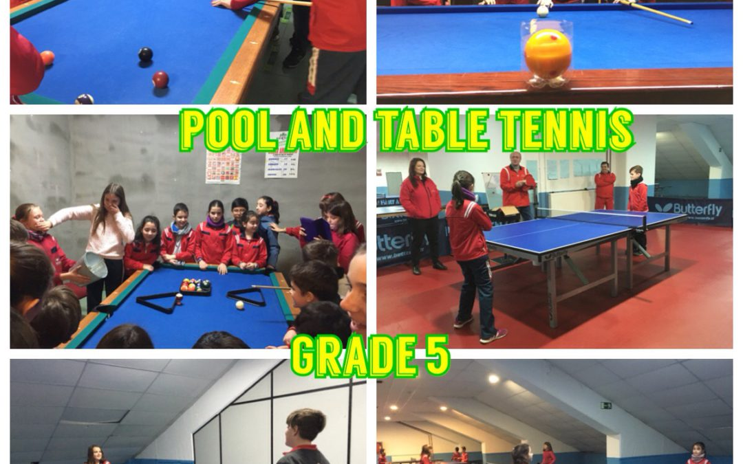 Pool and table tennis (Grade 5)